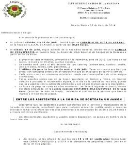 CARTA JORNADA CONVICENCIA 2014 X